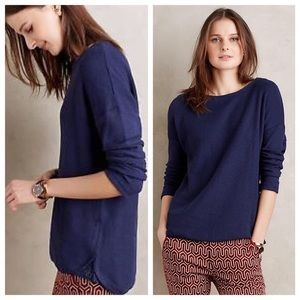 Anthropologie Postmark navy long sleeve pullover